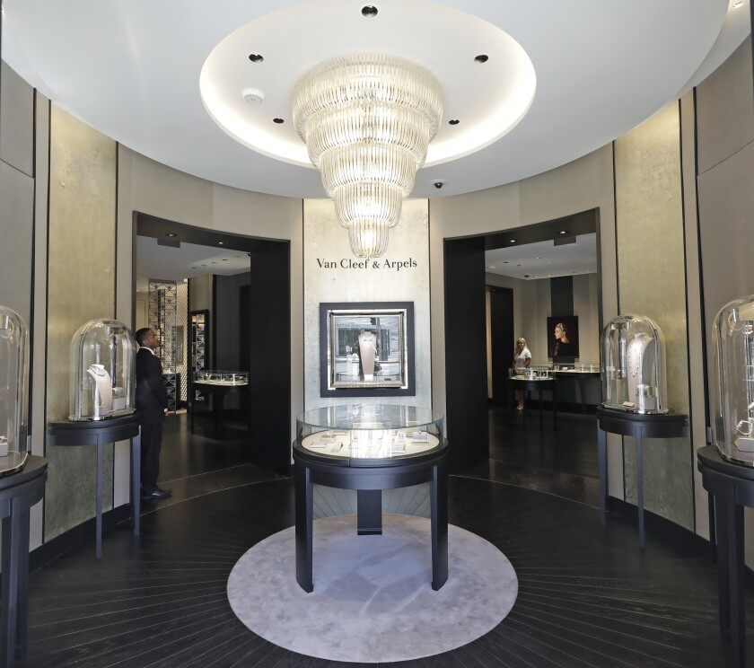 The renovated Van Cleef & Arpels store on Rodeo Drive in Beverly Hills