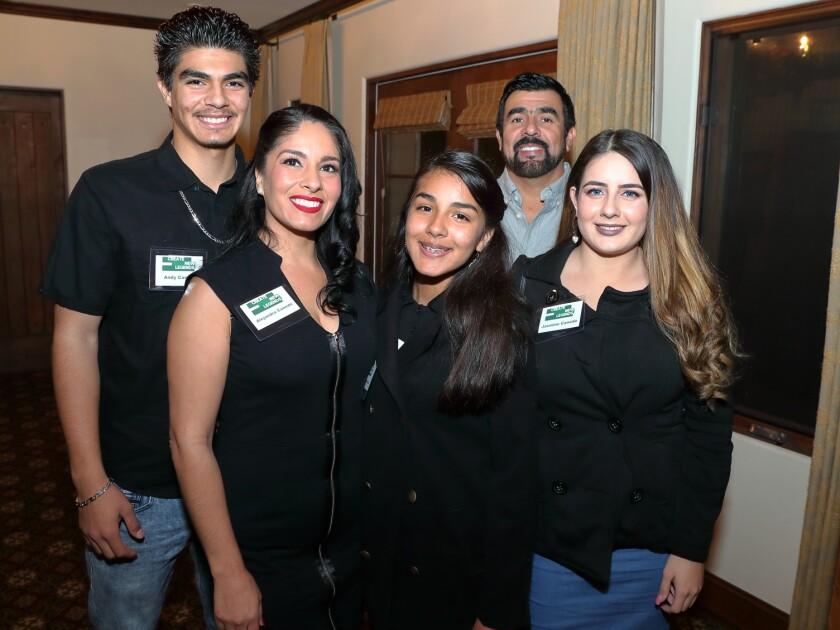 The Caneda family: Andy, Alejandra, Emily, Bobby, Jasmine