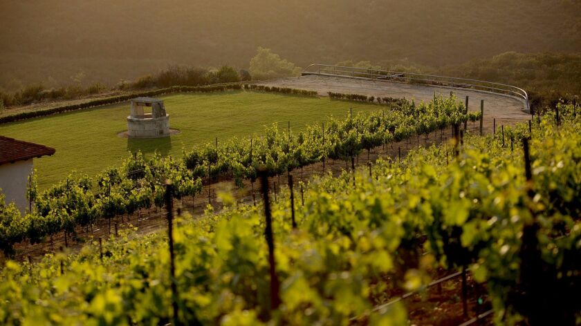 Europe? No, Vista and the Cal-a-Vie vineyards. The destination resort is now selling wine, with its