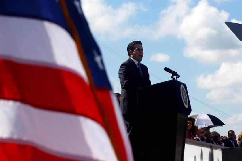 El gobernador de Puerto Rico, Ricardo Rosselló, habla en un evento. EFE/Archivo