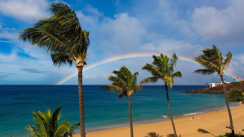 Rainbow over Black Rock