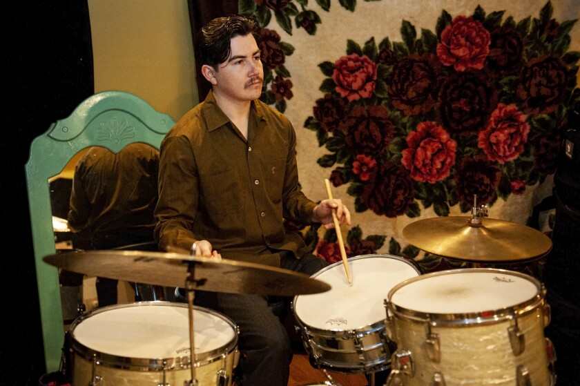 Drummer Alex Garcia transformed the band's studio space at age 18, and said his neighbors are used to the noise.