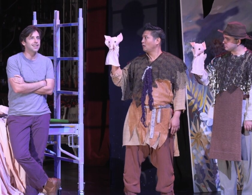 """A scene from San Diego State University's filmed production of Pippin."""""""