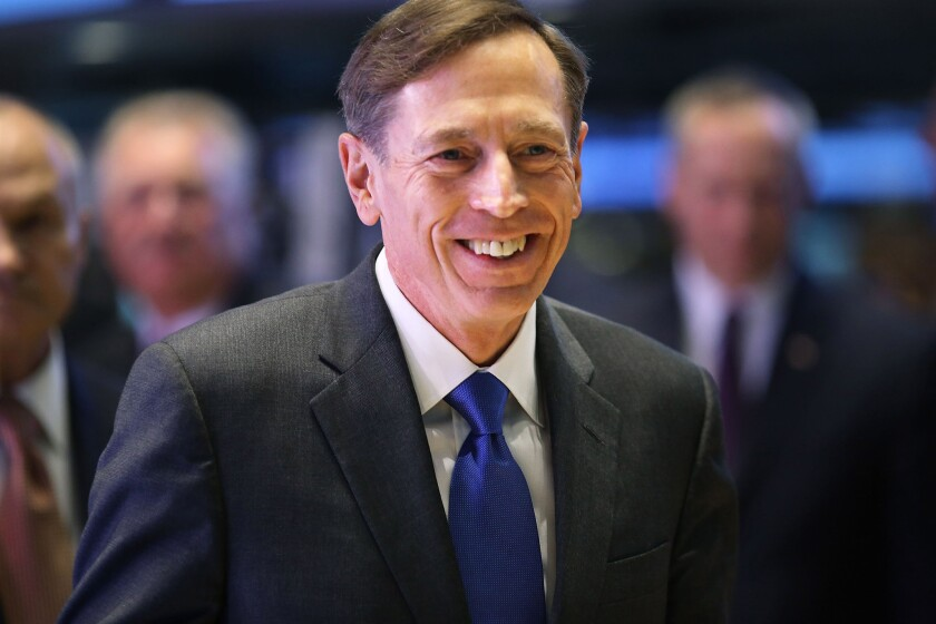 Gen. David H. Petraeus, who resigned from his job as director of the CIA earlier this month, is already contending with an avalanche of opportunities for his next big job.