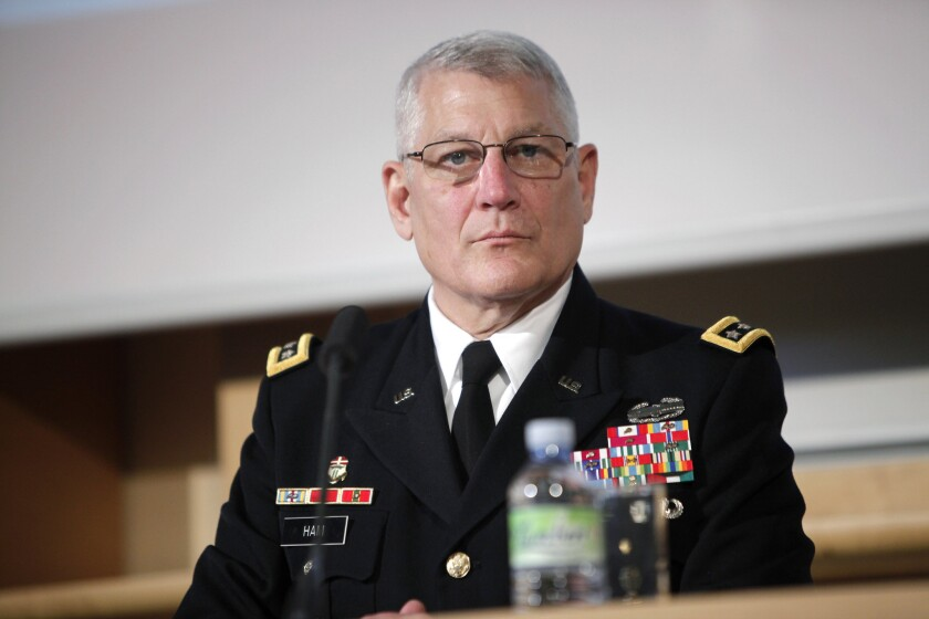 Gen. Carter Ham, former head of the U.S. Africa Command, shown here in June 2014, testified about the Benghazi attacks in a closed-door meeting with lawmakers.