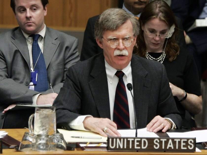 Neoconservatives such as former U.S. Ambassador to the U.N. John Bolton, seen here in 2006, have expressed serious reservations about making a deal with Iran on that country's nuclear program.