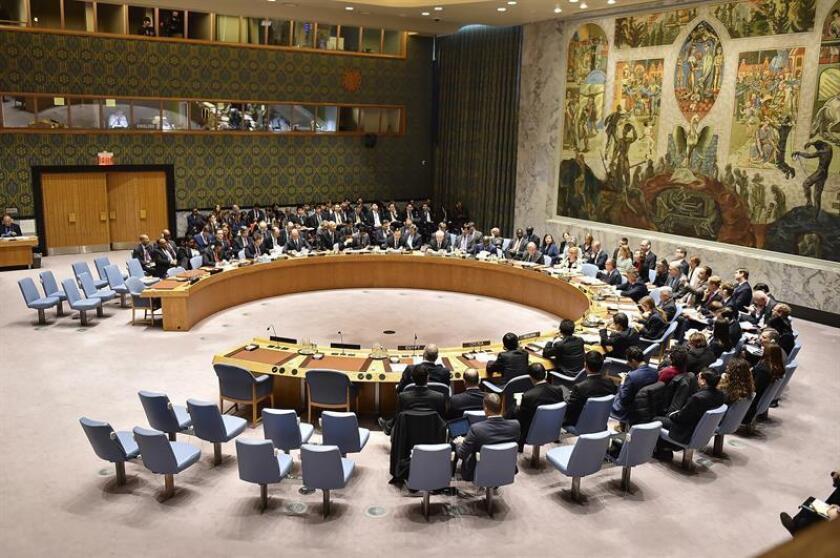 Vista de una reunión del Consejo de Seguridad de las Naciones Unidas. EFE/Archivo