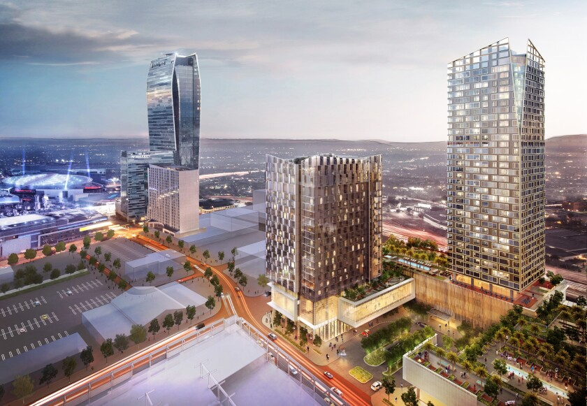 The Los Angeles City Council moved forward Tuesday with a plan to let Greenland LA, developer of the planned Metropolis project, keep up to $39 million over 25 years. It will have a 19-story hotel and 38-story residential tower.