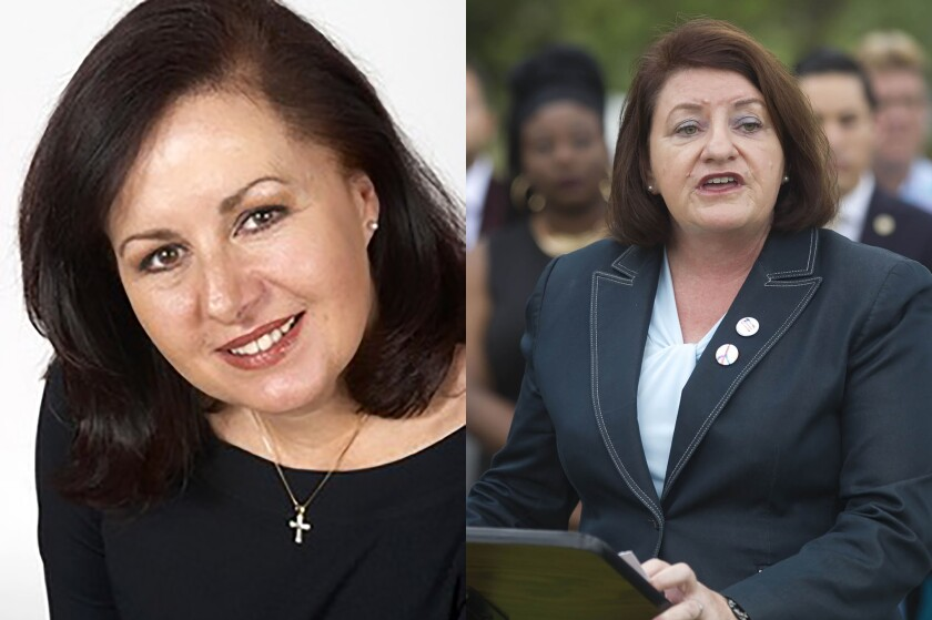 Linda Blankenship and Toni Atkins are both running for State Senate in the 39th District.