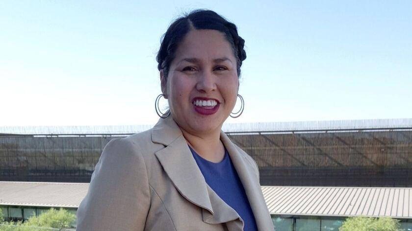 Angela Willeford, Salt River Pima-Maricopa's intergovernmental relations project manager, organizes
