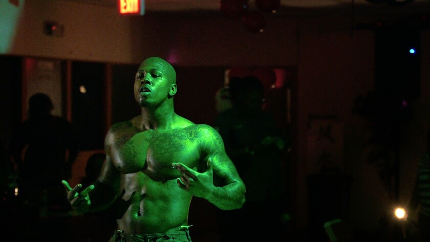 """Malik Perry in a scene from """"This One's for the Ladies."""" Credit: Super LTD."""