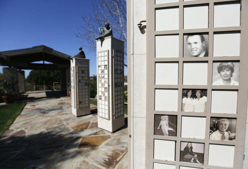 The Thousand Words memorial, one of many as San Diego Hospice in Hillcrest.