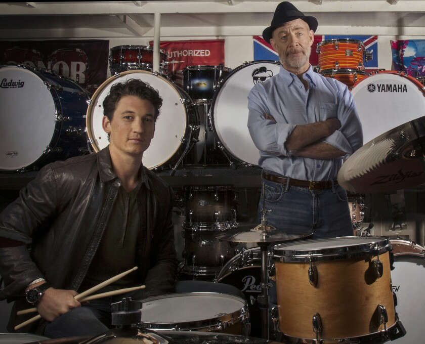 'Whiplash's' Damien Chazelle, Miles Teller and J.K. Simmons riff on creativity, genius, criticism and cruelty — themes covered in the film