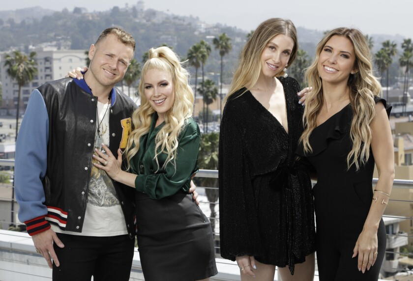 HOLLYWOOD, CA -- MAY 03, 2019: Left to right: Spencer Pratt; Heidi Montag; Whitney Port and Audrina