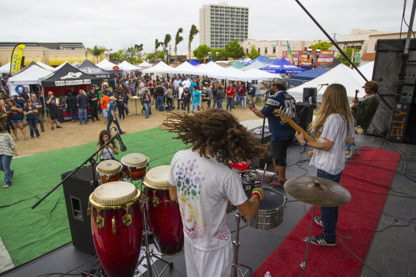 Saturday marked the first annual Avenue Amps & Ales, a craft beer and music festival on Third Avenue in Chula Vista. The event offered local craft brews and bands.