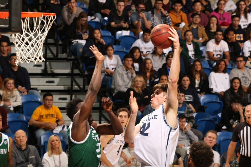 Grossmont alum Tommy Rutherford (right) helped UC Irvine reach the NCAA Tournament last season.