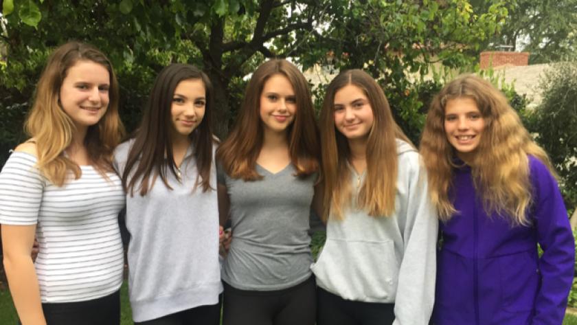 La Jolla-based Girl Scout Troop 3803 members include Natalie Saham, Amber Watt, Selma Hyytinen, Allison Foerster and Maggie Johnson.