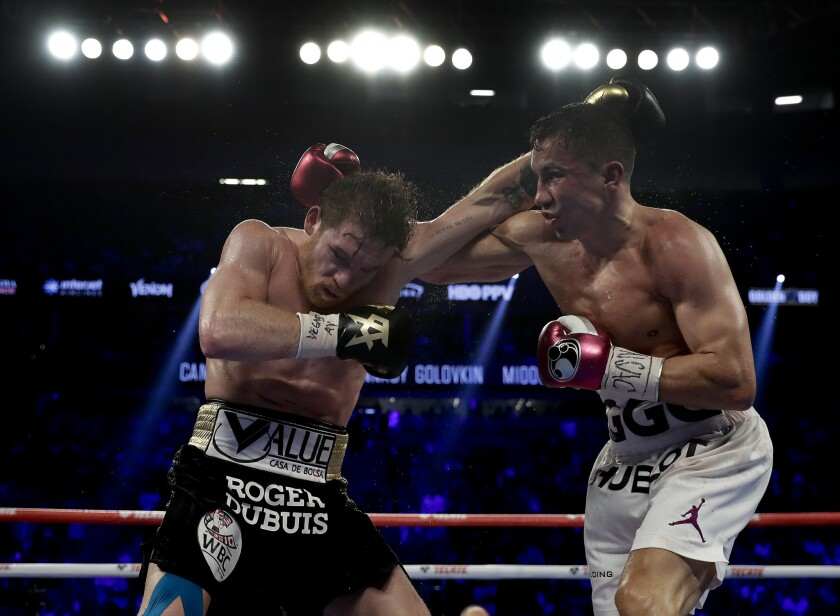 APphoto_Canelo Golovkin Boxing