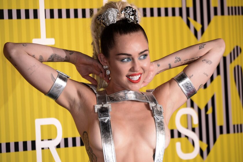 "Miley Cyrus, seen at Sunday's MTV Video Music Awards, has a new album, ""Miley Cyrus & Her Dead Petz."""