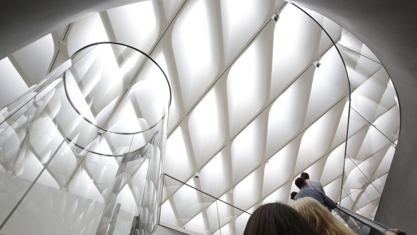 A tour of the Broad museum as it prepares to open.