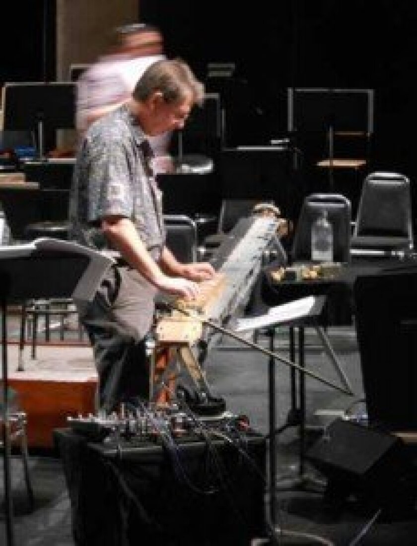 The quadrachord is a large string instrument invented by paul Dresher and Daniel Schmidt.