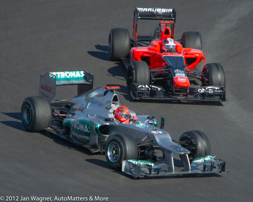 F1 racing at Circuit of the Americas in 2012