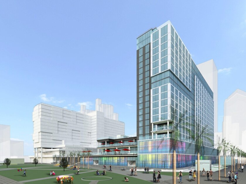Construction is just getting started on the InterContinental Hotel project, which occupies the former Lane Field at Broadway and Pacific Highway.