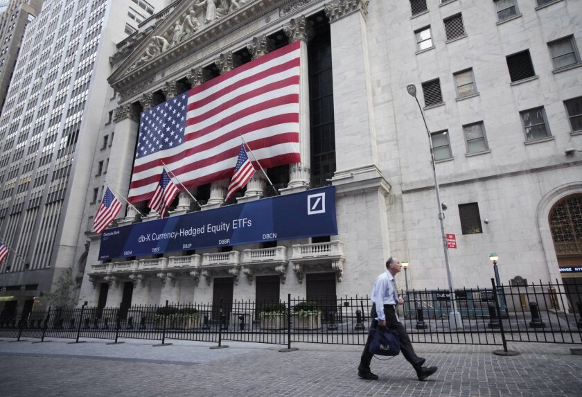 FILE - The New York Stock Exchange is shown, Tuesday, Aug. 9, 2011 file photo taken in New York. Global stock markets were muted Thursday Aug. 28, 2014 ahead of U.S. economic data and possible policy announcements from Japan.(AP Photo/Mark Lennihan, File)