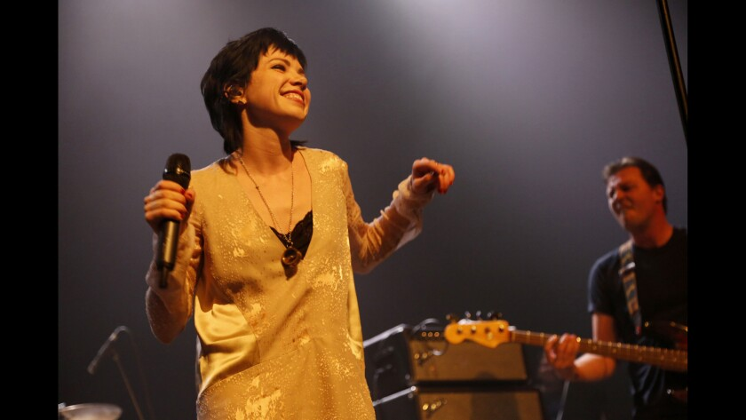 """Carly Rae Jepsen kicks off Fleetwood Mac Fest at the Fonda Theater on Feb. 10, 2016, with her rendition of """"Hold Me."""" Read the review."""