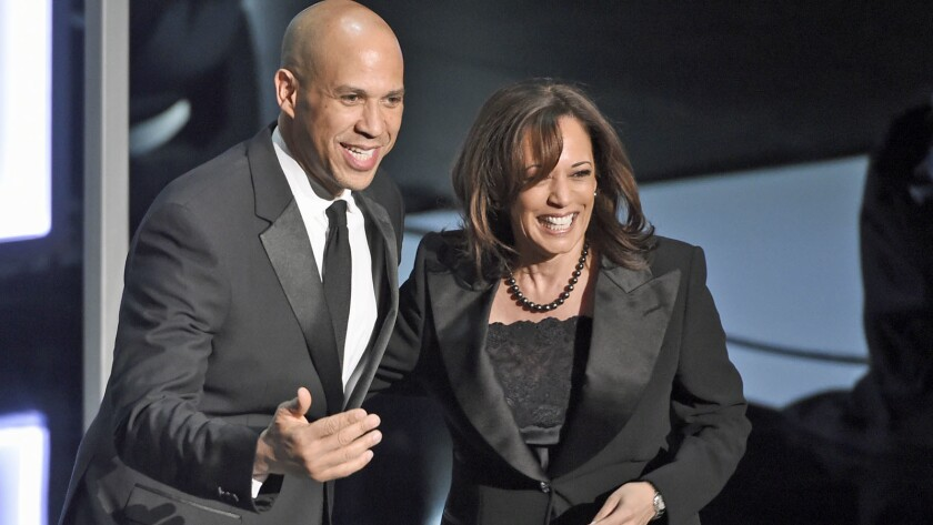 Sens. Cory Booker (D-N.J.) and Kamala Harris (D-Calif.).