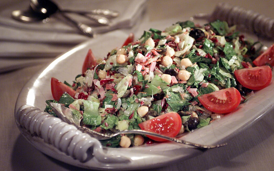 Chopped Antipasto Salad With Italian Dressing