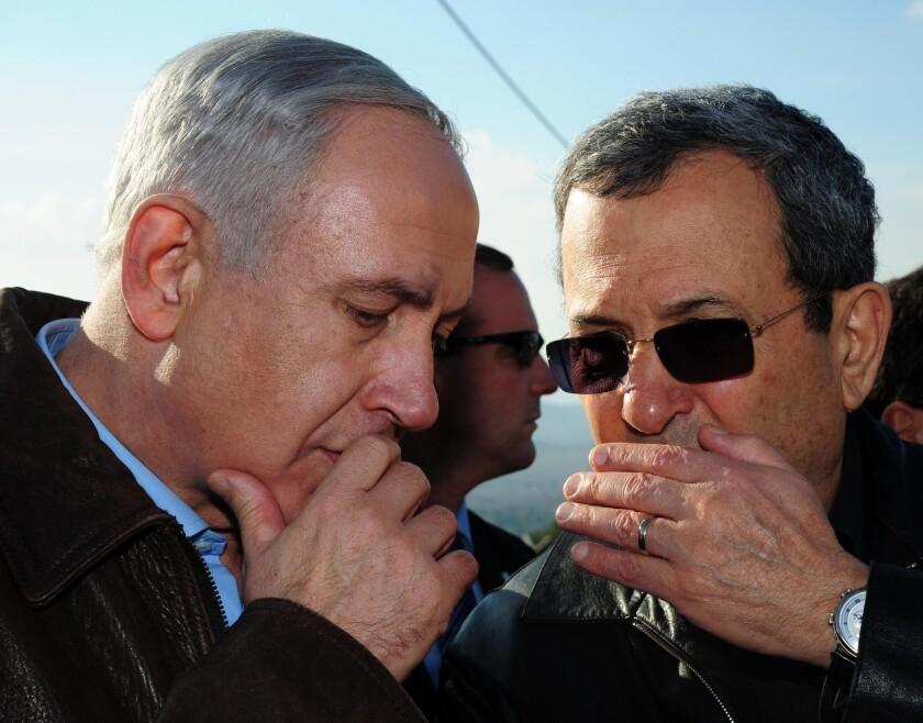 In 2012, Israeli Defense Minister Ehud Barak, right, with Prime Minister Benjamin Netanyahu.