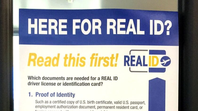 Letters to the Editor: Come on, getting a Real ID at the DMV isn't that bad