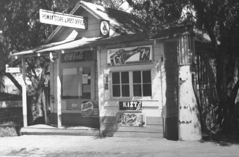 Bill Otis' Poway Store and Post Office near Poway Road.