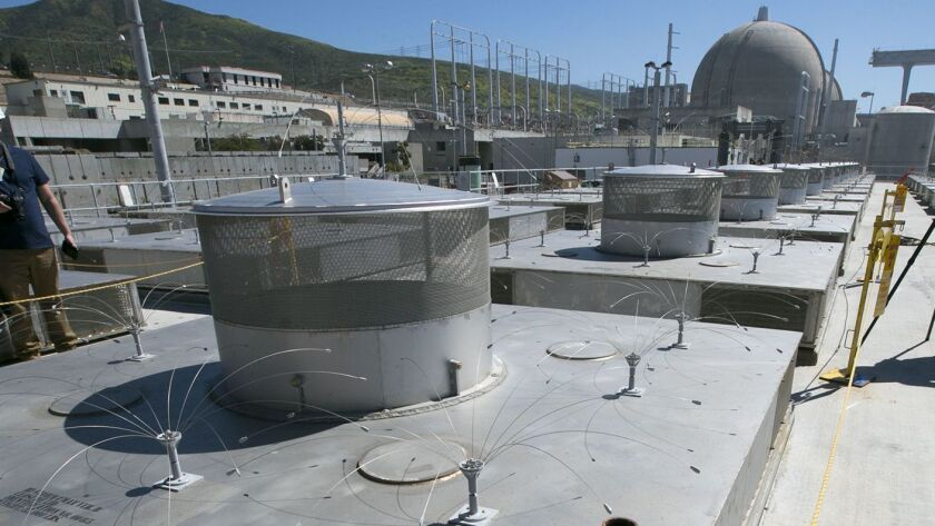 The newly constructed Independent Spent Fuel Storage Installation at the San Onofre Nuclear Generating station that holds nuclear fuel assemblies in dry casks.