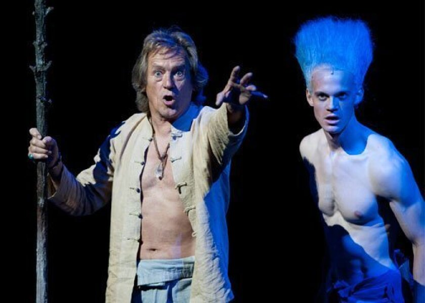"""Miles Anderson (left) and Ben Diskant in """"The Tempest"""" at the Old Globe Theatre."""