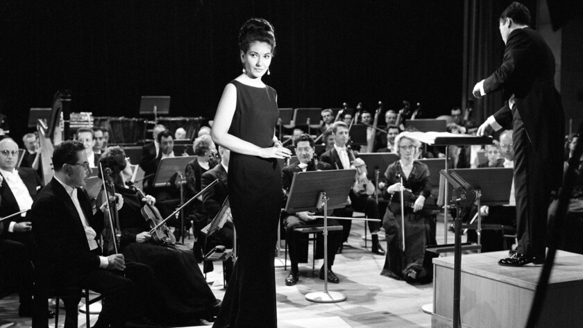 "Maria Callas with l'Orchestre National de l'ORTF, conducted by Georges Prêtre, from the documentary ""Maria by Callas."""