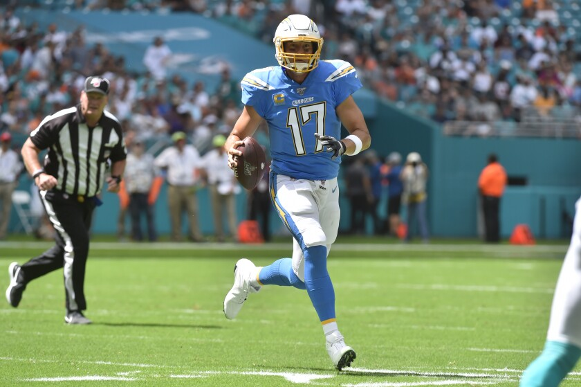 Chargers' Philip Rivers gives Dolphins' defense on the run ...