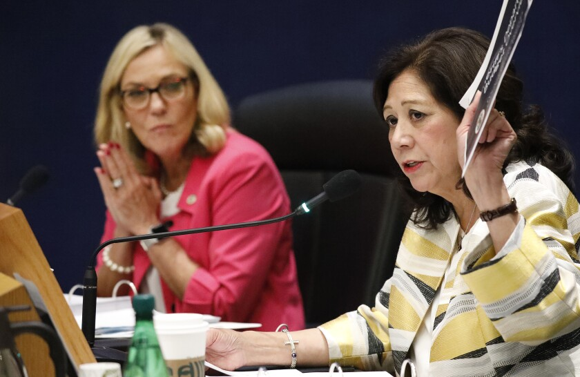 Los Angeles County Supervisors Hilda Solis and Kathryn Barger