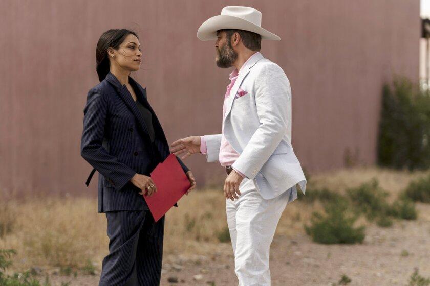 "Rosario Dawson and Jay R. Ferguson in ""Briarpatch"""