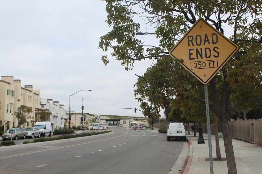 Village Center Loop road currently dead-ends past the Airoso development.