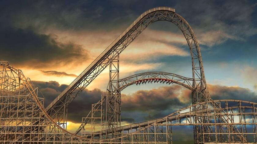 Goliath wooden roller coaster