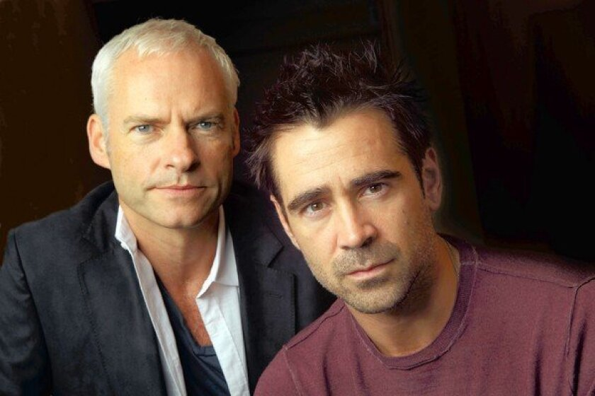 """Writer-director Martin McDonough and actor Colin Farrell worked together in the new move """"Seven Psychopaths."""""""