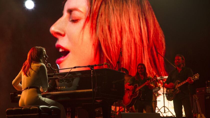 "Lady Gaga steps into the spotlight in ""A Star Is Born."""