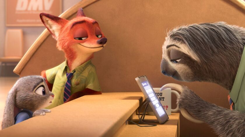 A scene from the Oscar-winning Disney animated movie 'Zootopia.'
