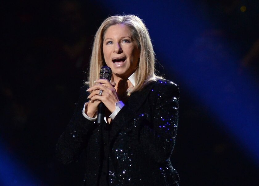 """FILE - In this Oct. 11, 2012, file photo, singer Barbra Streisand performs at the Barclays Center in the Brooklyn borough of New York. Streisand will take the stage at the Tony Awards on June 12, 2016. The singer and actress, who was a Tony nominee in 1962 for """"I Can Get It for You Wholesale"""" and i"""