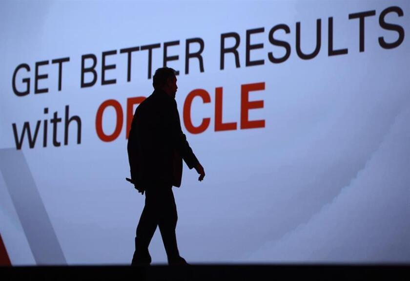 El gobernador de Puerto Rico, Ricardo Rosselló, presentó hoy a la isla como una jurisdicción idónea para desarrollar propuestas tecnológicas como la nube humana. En el evento estuvo la presidenta de Oracle, Safra Catz. EFE/ARCHIVO