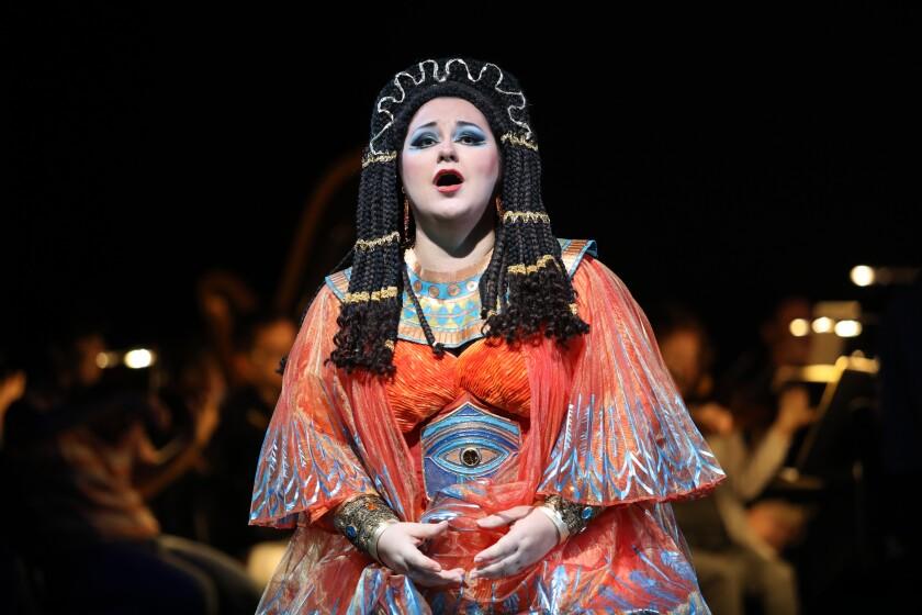"Mezzo-soprano Olesya Petrova stars as the spurned Amneris in San Diego Opera's ""Aida,"" playing through Oct. 27 at the San Diego Civic Theatre."