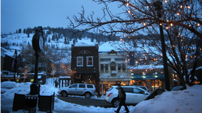 Park City, Utah, in mid-January, before the crowds arrive.
