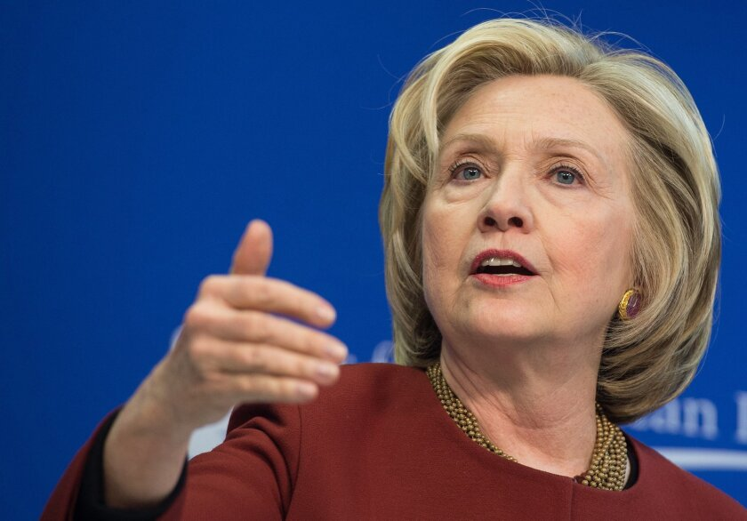 Hillary Rodham Clinton wants the Supreme Court to grant same-sex couples a constitutional right to marriage.